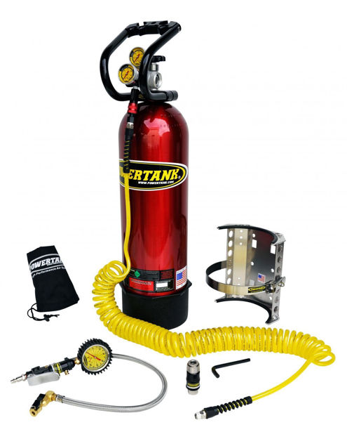 Picture of CO2 Tank 15 LB Power Tank Package B 250 PSI Candy Red Power Tank