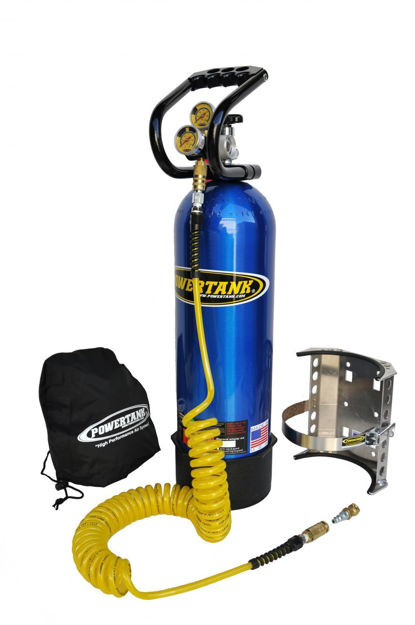 Picture of CO2 Tank 15 LB Power Tank Package A 250 PSI Candy Blue Power Tank
