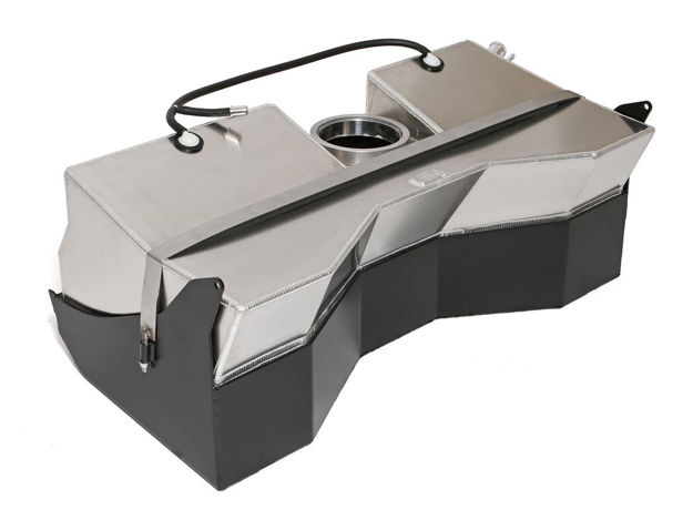 Picture of Jeep Comp Gas Tank Crawler  23 Gal w/Skid 97-06 Wrangler TJ, LJ Aluminum Bare GenRight