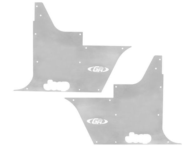 Picture of Jeep Tub Panel Guards Flack-Jacket w/Out Hinge Cutouts Pair 97-06 Wrangler TJ, LJ Aluminum Bare  GenRight