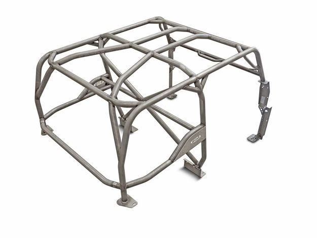 Picture of Jeep Roll Cage Kit Full Laser Notched 87-95 Wrangler YJ Steel Bare GenRight
