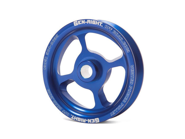 Picture of Jeep Power Steering Pulley Vented 97-06 Wrangler TJ Aluminum Blue GenRight