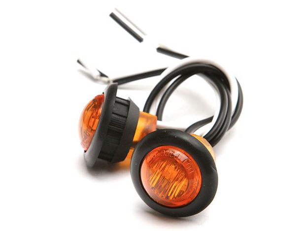Picture of Jeep LED Round Marker Lights .750 Inch Pair Universal Amber GenRight